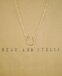 Luck Necklace Hammered Horseshoe Necklace  by BeauAndStella