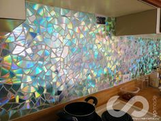 decorating kitchen walls with old CDs