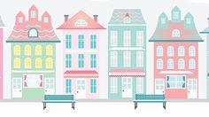 Skyline Wall Art Print Cityscape Illustration by Ilustracionymas