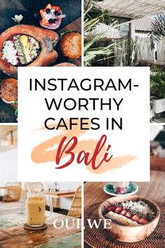 Considering a trip to Bali?! We've got the rundown of the most instagrammable restaurants and cafes in Bali from cute coffee shops to vegan joints filled with smoothie bowls and sweet treats. Get ready for some serious eye-candy, and the most beautiful healthy food options you've likely ever seen! #Bali #foodie #travel World Travel Guide, Travel Tips, Food Travel, Travel Guides, Cute Coffee Shop, Coffee Shops, Bali Travel, Wanderlust Travel, Healthy Food Options