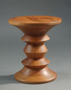 CHARLES AND RAY EAMES WALNUT TIME-LIFE STOOL