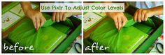 adjusting color levels using Pixlr