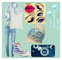 """""""Blue-ish Day"""" by love-less-1 on Polyvore featuring Aéropostale, Frame Denim, Mulberry, Converse, Merkury Innovations and BlissfulCASE"""