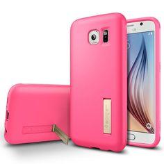 SPIGEN Capsule Soild Skal till Samsung Galaxy S6 - Rosa