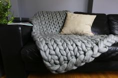 Throw Blanket Sofa Chunky Knit Blanket Throw Extrem by Merrisson