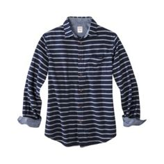 Navy Stripe Long Sleeve Button Down  men  style  fashion  EliteStyle Polos  Manga. Polos Manga Larga De HombresRayas ... 1a8c4318760
