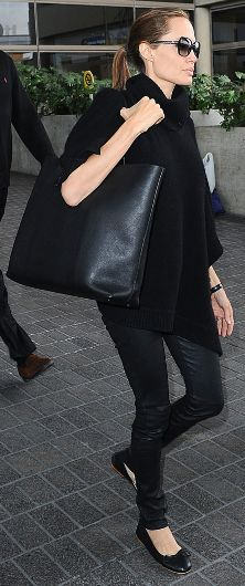 #Celebrity #style inspiration @Quiqs_com classic and chic #AllBlack Angelina Jolie outfit