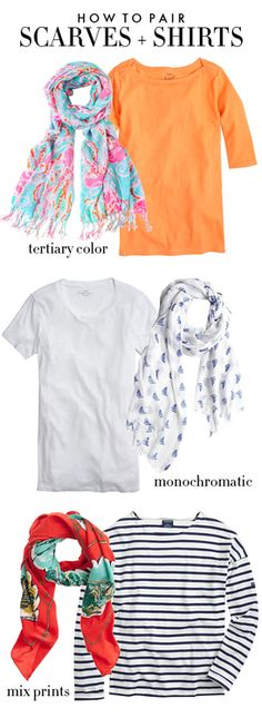 How to pair scarves and shirts