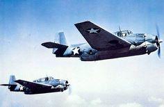 Two Grumman TBF-1 Avengers circa 1942.