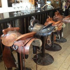 What A Fun Idea Saddles As Barstools