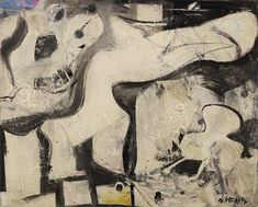 Willem de Kooning paintings, plastic arts, fine art, abstract expressionism, new york school