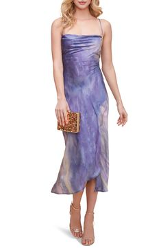 ASTR the Label Cowl Neck Midi Dress | Nordstrom Midi Dress With Slit, Dress Up, Fall Dresses, Summer Dresses, Formal Dresses, Fashion Art, Autumn Fashion, Dress Outfits, Fashion Dresses