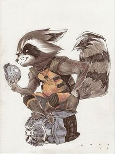 Fashion and Action: Rocket Raccoon - Guardians of the Galaxy Art Galle...