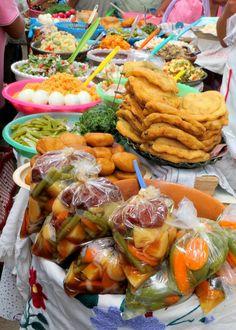 Prepared foods at the Etla Market, Photo credit: Lola's Cocina