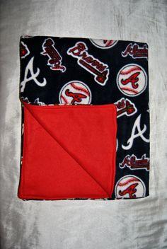 Double Fleece Baby Blanket: Atlanta Braves MLB. $25.00, via Etsy. #ShopTheCardinalKey