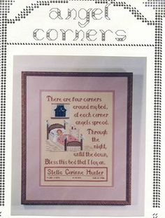 Angel Corners Cross Stitch Find your next cross stitch design at Cobweb Corner and save 20% on your first order with coupon WELCOMECC #crossstitch #babies #baby #kids #cobwebcorner