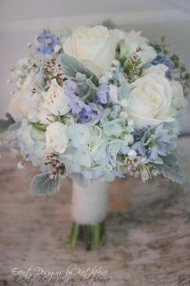 Beautiful blue wedding flower bouquet, bridal bouquet, wedding flowers, add pic source on comment and we will update it. www.myfloweraffair.com can create this beautiful wedding flower look.