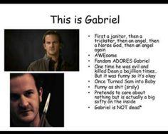 Uscite Gabriel again e riguarderò qualche puntata di SPN