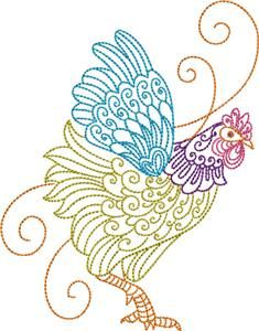 Machine Embroidery Designs Chickens Roosters