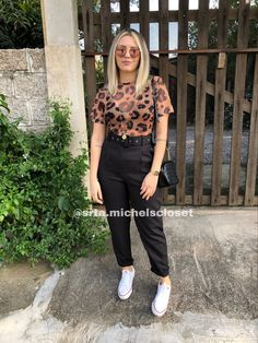 Animal Print Shirts, Animal Print Outfits, Look Casual Chic, Casual Looks, Looks Plus Size, Office Looks, Girl Fashion, Womens Fashion, Indie Outfits