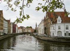 The historical center of Brugge, Belgium.