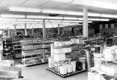 In March 1958, Sears, Roebuck & Co. opened its second location in the Richmond area. The new Southside Plaza location sold only hard goods, as seen in this image. It also had a service station and a catalog office. The 25,000-square-foot store had parking for about 150 cars in an area set aside from the start for future expansion.  (The other local Sears was at 1700 W. Broad St.)