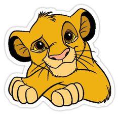 Simba the Lion King Sticker