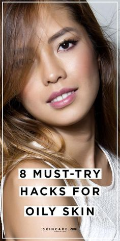 Get rid of excess sebum—AKA oil—on your complexion with these 8 must-try hacks for oily skin types. #BestFaceSerum Makeup Tips For Oily Skin, Mask For Oily Skin, Moisturizer For Oily Skin, Oily Skin Care, Acne Prone Skin, Skin Tips, Skin Care Tips, Skin Mask, Oily Skin Remedy