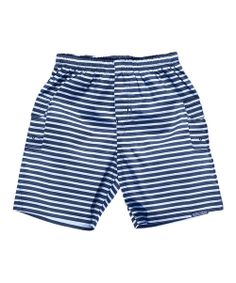 The UK-designed trunks are the perfect pair for little ones who enjoy the water. Featuring a hidden swim diaper underneath, this pair keeps accidents contained with the need for any extra protection.100% cottonMachine washImported