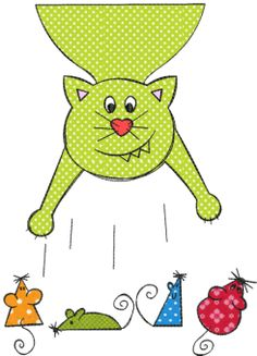 Cat Story Doodles - stickmuster für Freddas Hosen!