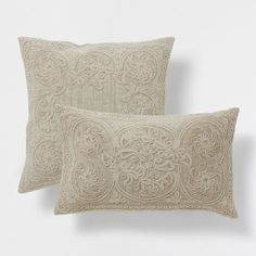 EMBROIDERED COARSE CUSHION - Decorative Pillows - Decor and pillows | Zara Home United States