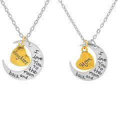 Xiehou I Love You to the Moon and Back Mom and Daughter Heart Crescent Family Charm Necklace Set of 2 Xiehou http://www.amazon.com/dp/B00WRB4TJ8/ref=cm_sw_r_pi_dp_ksLpvb06GM0YC