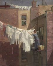 Sloan's painting, which documented poor and working class conditions in New York City tenements a century ago, is relevant to the debate today over the size of government and the social safety net.
