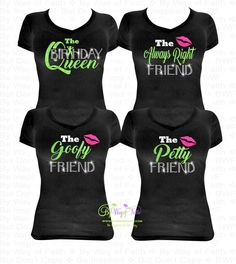Free Ship GROUP BUY Birthday Queen And Friend Bling