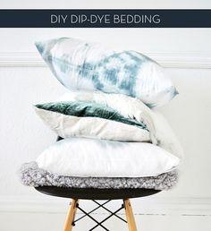 Make It: DIY Dip-Dye Bedding » Curbly | DIY Design Community