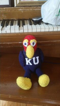 Crochet Dark blue Jayhawk front