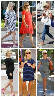 Baby Bump Spring Dresses - love her simple style
