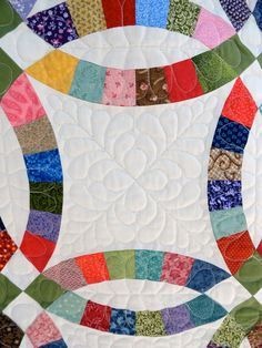 Double wedding ring quilt kits for sale