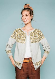 Billedresultat for garnmannen ne 175 Knitting Designs, Knitting Patterns Free, Knit Patterns, Cardigan Design, Cardigan Pattern, Icelandic Sweaters, Nordic Sweater, Fair Isle Knitting, How To Purl Knit