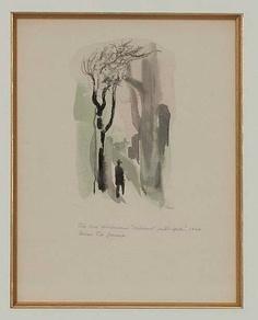 akvarell, på papper, sign. och dat. 1944.