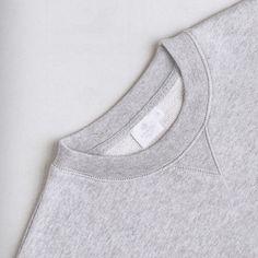 The classic #Sunspel grey melange Loopback #sweatshirt in Volume 9 of @cerealmag photographed by @rvstapleton #cerealmag