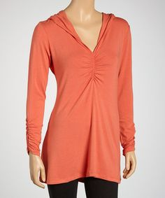 Take a look at this Melon Organic Hooded Tunic by Blue Canoe on #zulily today!