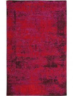 Flachgewebe Teppich Frencie Baroque Rot