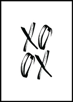 XO Black Poster in the group Prints / Typography & quotes at Desenio AB Text Poster, Mode Poster, Typography Poster, Poster Poster, Handwritten Typography, Chinese Typography, Creative Typography, Poster Layout, Modern Typography