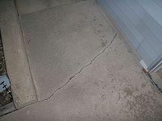 q outside concrete crack, concrete masonry, home maintenance repairs
