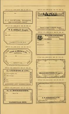 Creative digi vintage: FREE VINTAGE PHARMACY LABELS