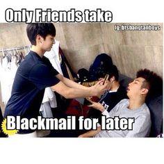 Jungkook blackmailing Rapmon xD
