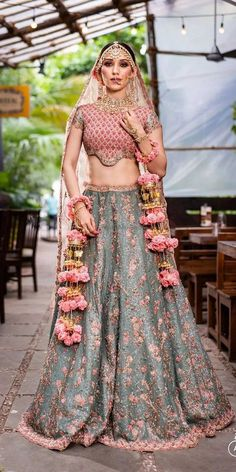 Exciting Indian Wedding Dresses That Youll Love ★ indian wedding dresses fusion colored knots by amp Indian wedding dresses are very beautiful. Usual indian bridal dresses made of chiffon or silk and adorned with elaborate embroidery, red or gold color. Indian Wedding Gowns, Indian Bridal Outfits, Indian Bridal Fashion, Indian Bridal Wear, Indian Dresses, Bridal Dresses, Indian Bridesmaid Dresses, Desi Wedding Dresses, Designer Bridal Lehenga