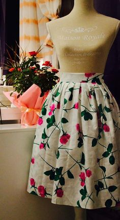 Bohemian Floral Skirt by CataleyaByMiryana on Etsy