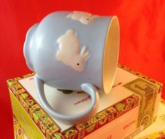 New! Bunny Rabbit Coco Tea Soup Large Blue Mug Cute Easter New Baby Boy Gift NWT | Collectibles, Decorative Collectibles, Tea Pots, Sets | eBay!